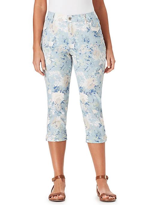 Bandolino Petite Mandie Floral Cuff Capri Pants
