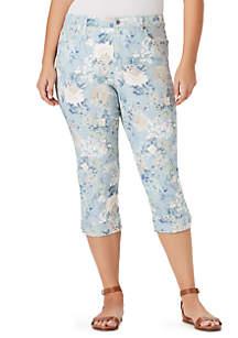 Bandolino Plus Size Mandie Side Lace Capri Pants