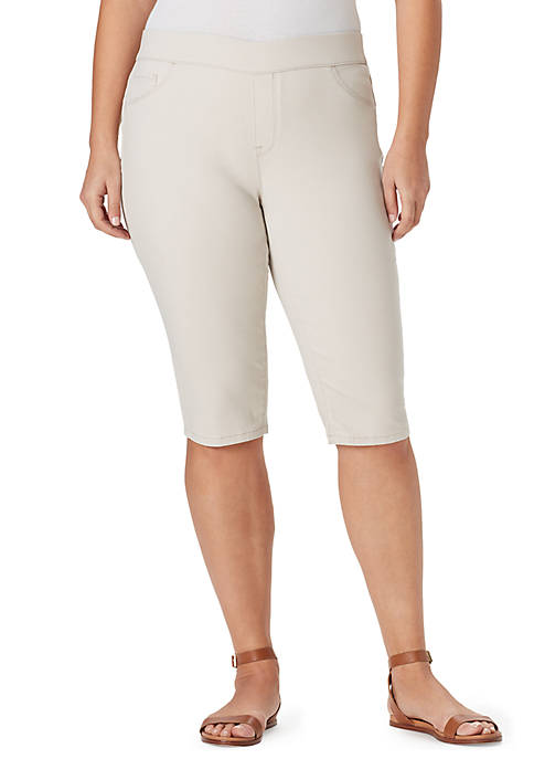 Plus Size Thea Pull On Skimmer Pants