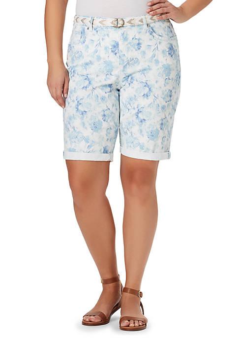 Bandolino Plus Size Riley Bermuda Sponge Shorts
