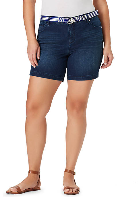 Plus Size Amalia Belted Shorts