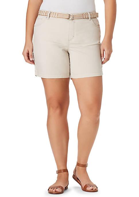 Bandolino Plus Size Amalia Belted Shorts
