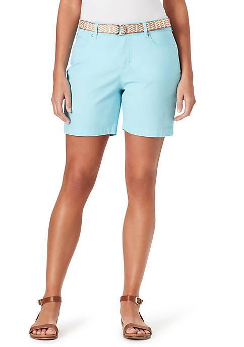 Petite Amalia Belted Shorts