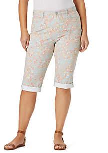 Bandolino Plus Size Lisbeth Printed Skimmer Pants