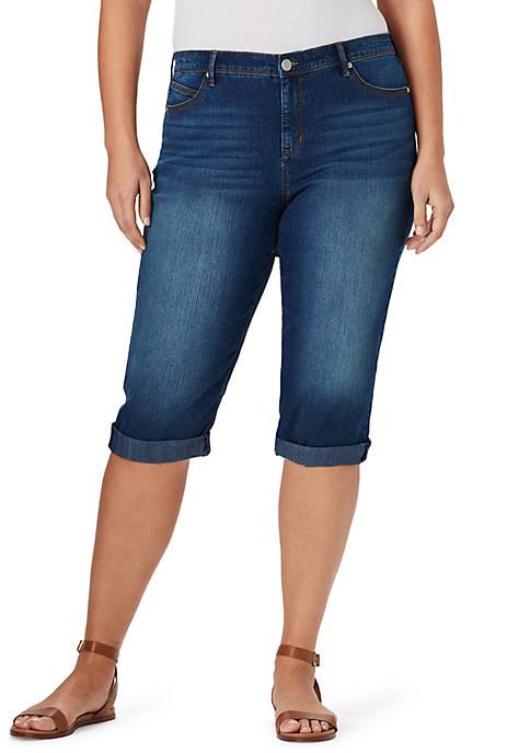 Bandolino Plus Size Lisbeth Skimmer Capri Pants