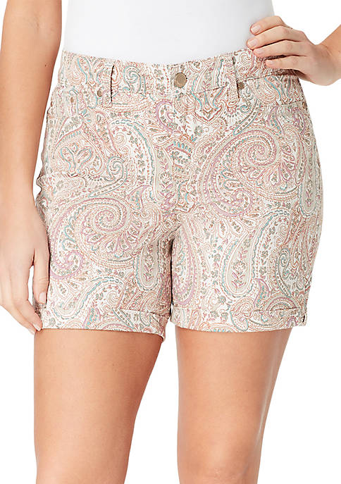 Bandolino Petite Mandie Paisley Shorts