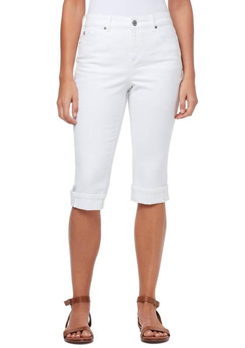 Bandolino Womens Skimmer Capri Pants