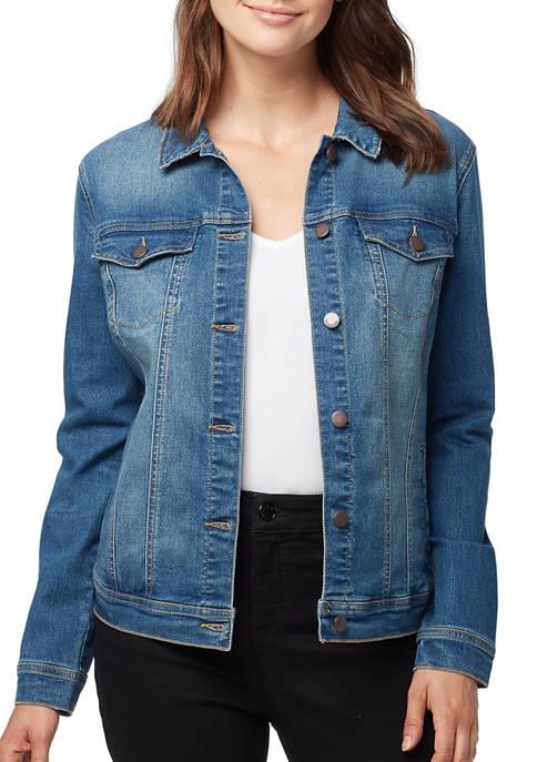 Bandolino Womens Classic Denim Jacket