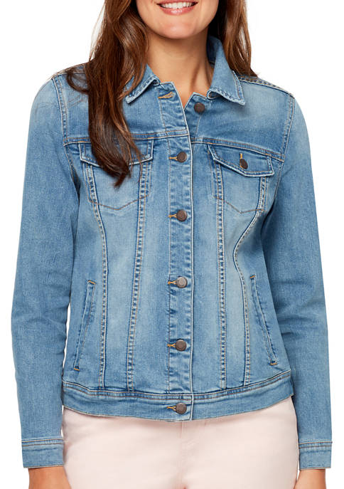Bandolino Womens Classic Denim Jacket