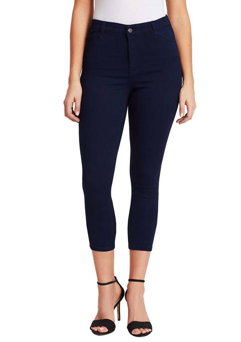 Bandolino Womens Thea High Rise Crop Jeans