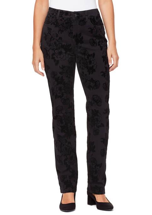 Bandolino Womens Mandie Denim Flock Jeans