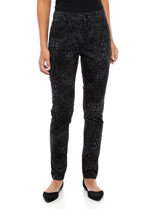 Bandolino Womens Mandie Leopard Skinny Jeans