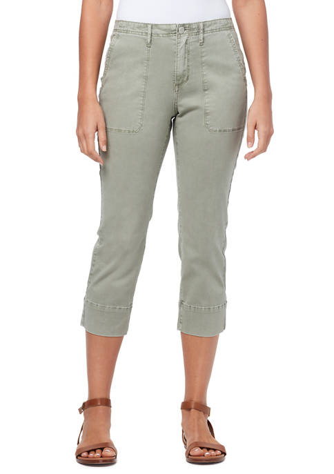 Womens Utility Capri Pants