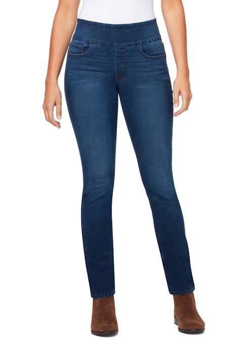 Bandolino Womens Theodora Tummy Tone Straight Jeans