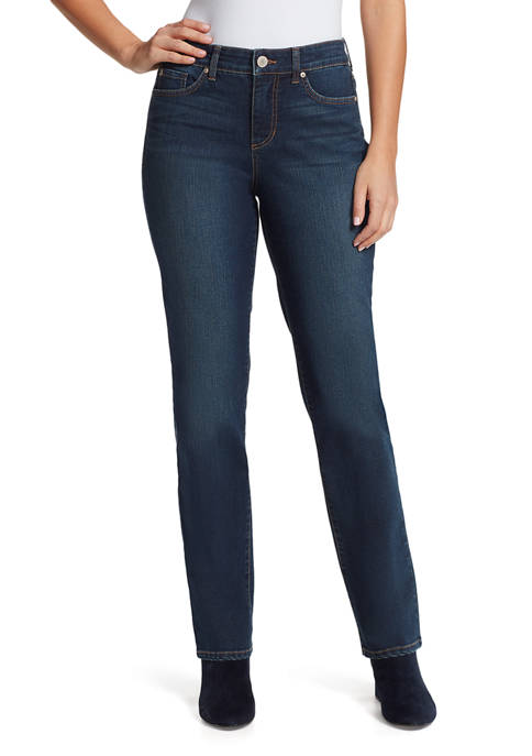 Bandolino Womens Mandie Straight Denim Jeans- Regular