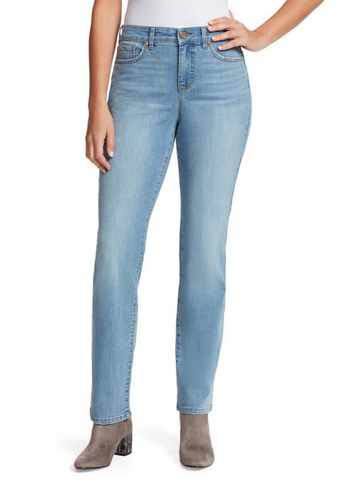 Bandolino Womens Mandie Straight Denim Jeans- Regular
