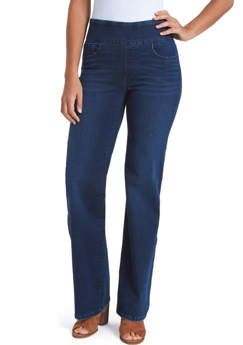 Bandolino Womens Theadora Wide Leg Jeans