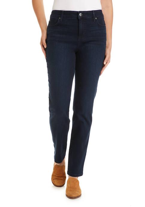 Womens Mandie Straight Short Denim Jeans