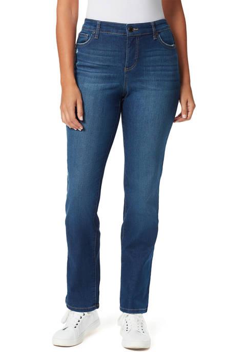 Bandolino Womens Straight Leg Short Length Jeans