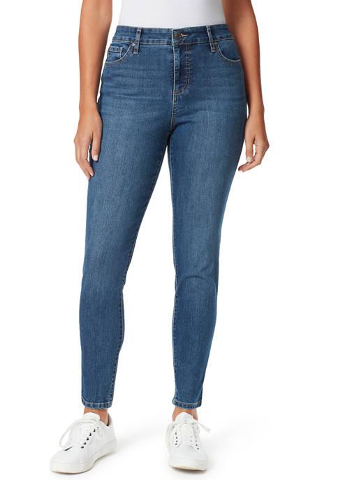 Bandolino Womens Mandie Skinny Short Length Jeans