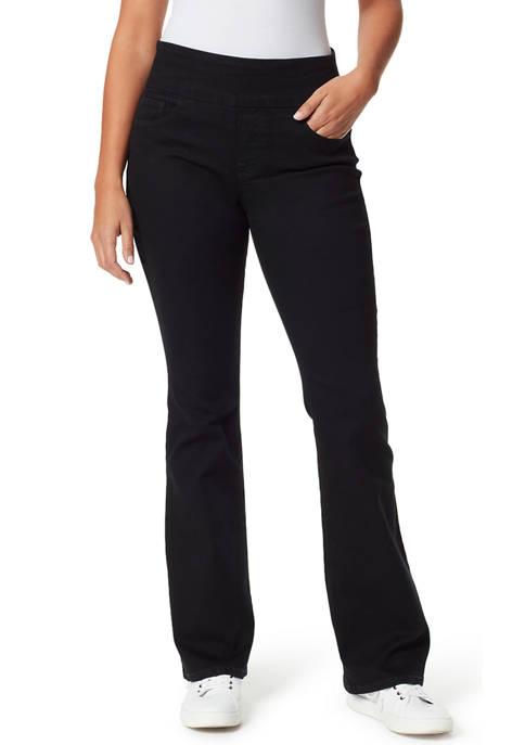 Bandolino Womens Theadora Tummy Toner Flare Leg Jeans
