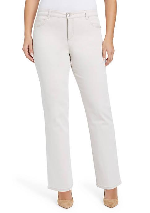 Bandolino Plus Size Mandie Twill Jeans