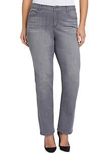 Plus Size Mandie Straight Leg Jeans- Short