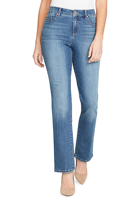 Bandolino Womens Mandie Short Perfect Fit Jeans