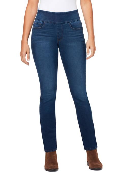Bandolino Womens Theadora Tummy Toner Straight Jeans