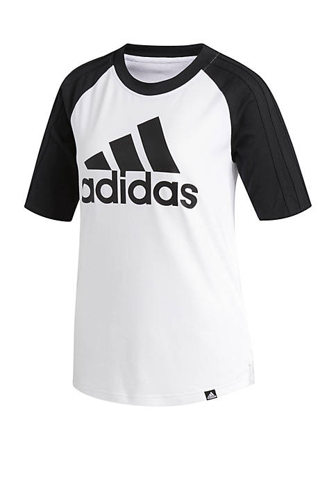 adidas Elbow Sleeve Baseball Tee