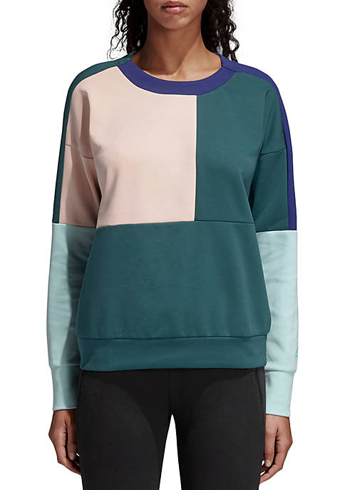 adidas ID Glory Colorblock Crew Pullover