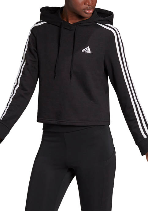 adidas Essentials 3-Stripes Cropped Hoodie