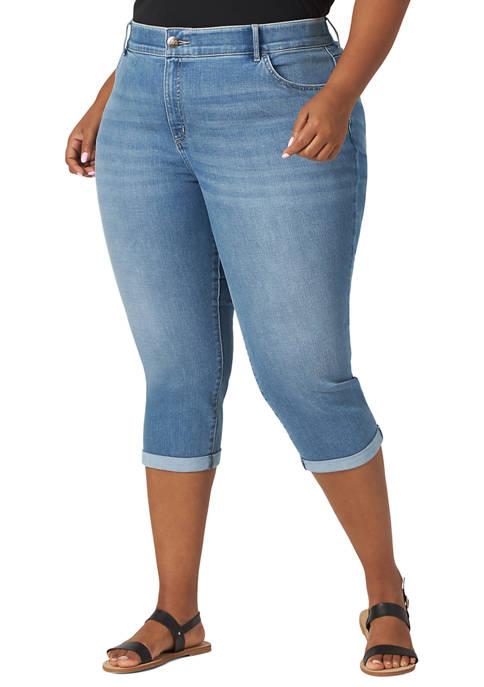 Plus Size Flex Motion Capri Pants