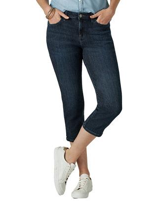LEE Womens Legendary Regular Fit 5 Pocket Capri Jean