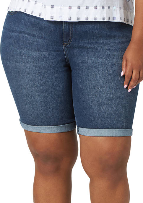 Lee® Plus Size Flex Motion Bermuda Shorts