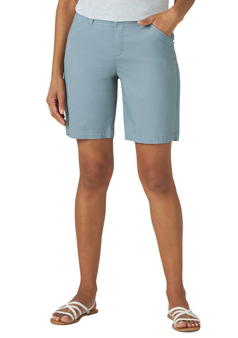 Lee® Petite 9 Inch Chino Bermuda Shorts