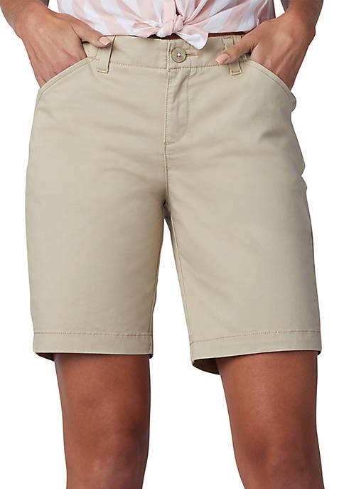 Lee® Petite Regular Fit Chino Bermuda Shorts