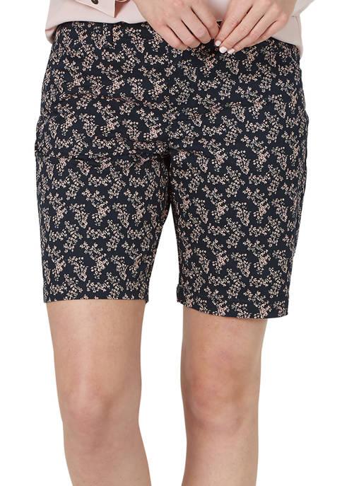 Womens Regular Fit Chino Bermuda Shorts