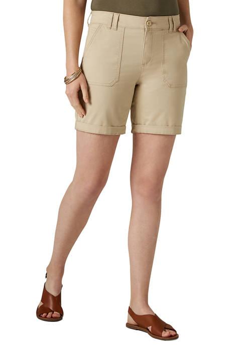 Womens Utility Chino Walk Shorts