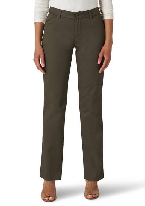 Womens Relaxed Fit Straight Leg Pants