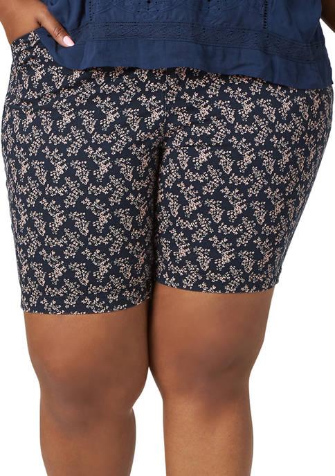 Lee® Plus Size Regular Fit Chino Bermuda Shorts