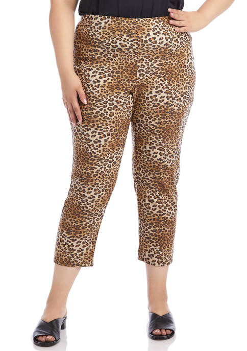 Plus Size Leopard Piper Pants