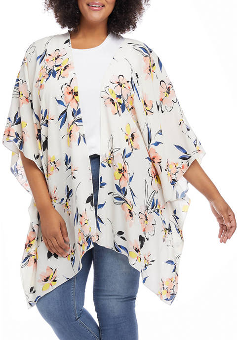 Karen Kane Plus Size Open Front Jacket