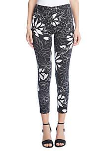 Karen Kane Leaf Print Piper Pants