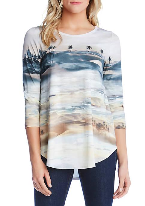 Karen Kane Palm Tree Print T Shirt