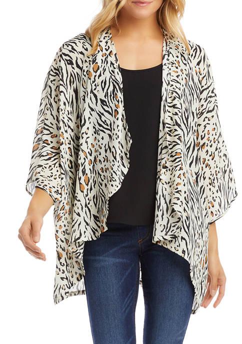Womens Drape Front Kimono Jacket
