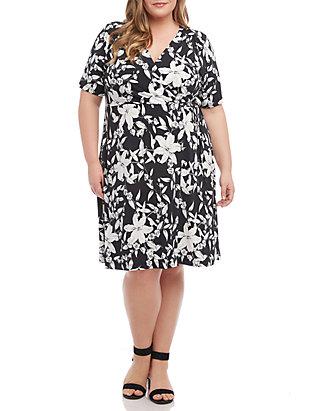 13cf27cdf419 Karen Kane. Karen Kane Plus Size Faux Wrap Dress