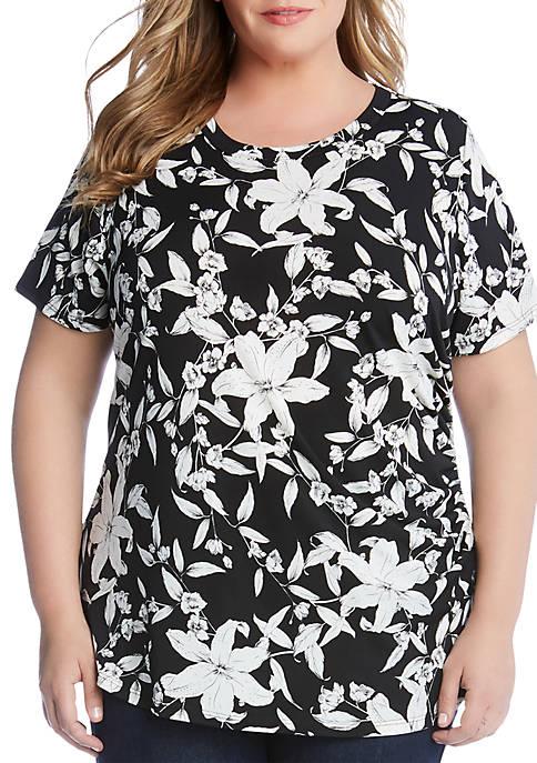 Karen Kane Plus Size Side Shirred Top