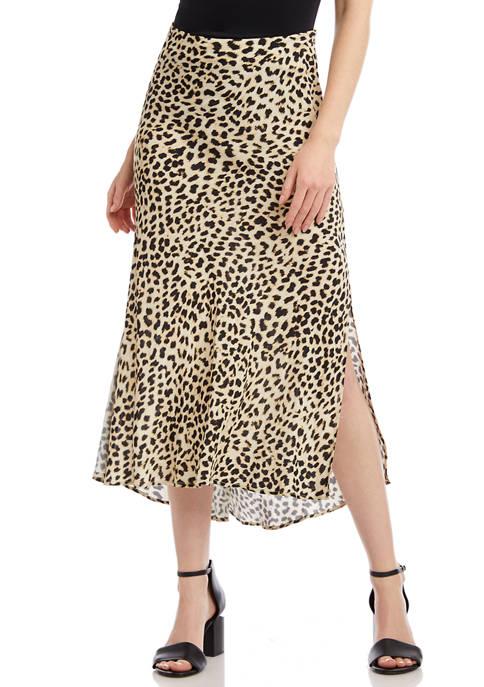 Karen Kane Womens Bias Cut Skirt