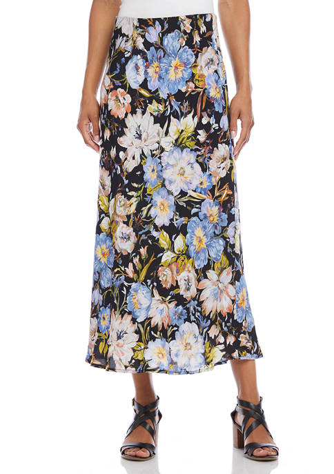 Karen Kane Womens Bias Cut Midi Skirt
